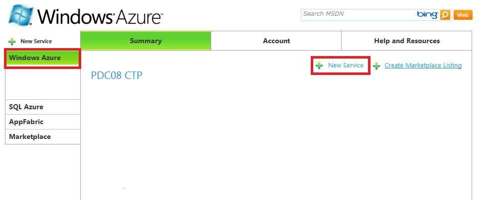 New-Service-Windows-Azure
