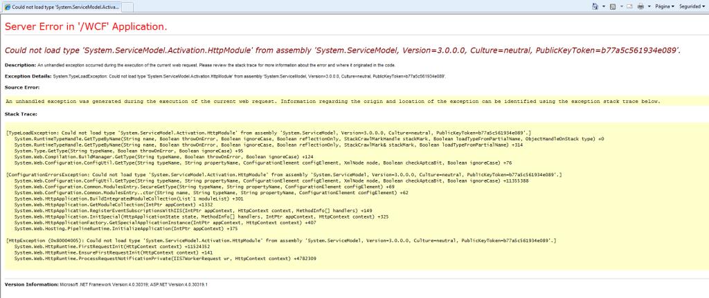 ServiceModel-error