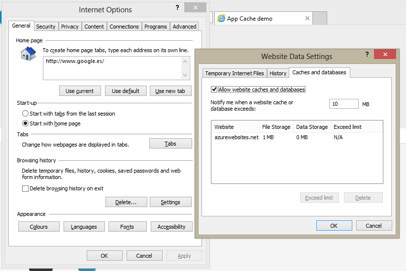 Caches-and-databases-settings