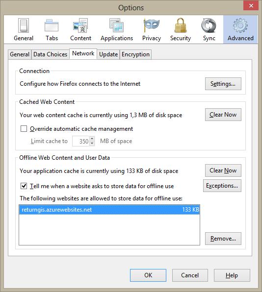 Firefox-appCache-Options