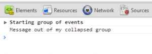 console.groupCollapsed