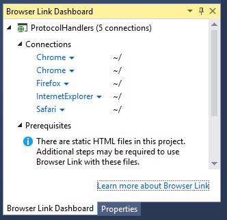Browser Link Dashboard