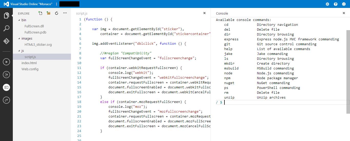 Visual Studio Online aka Monaco