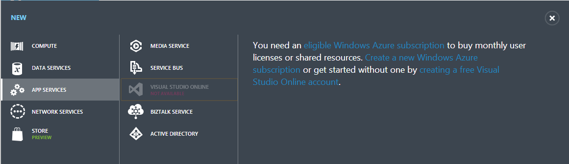 Windows Azure Subscription MSDN