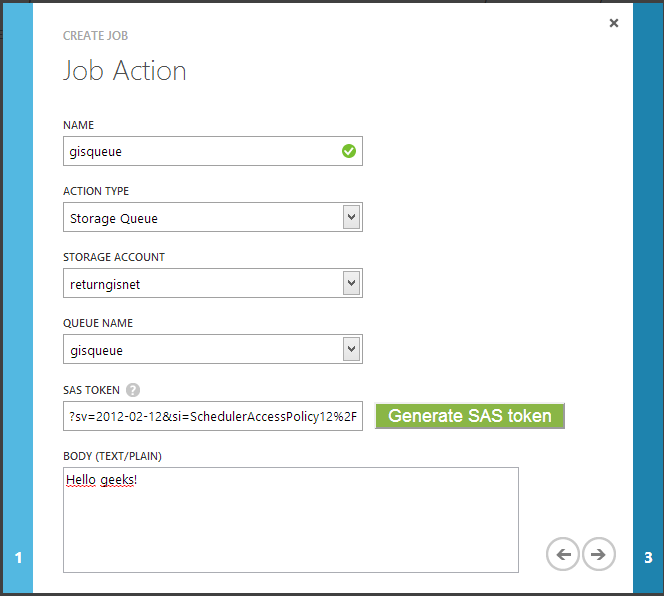 job action post message