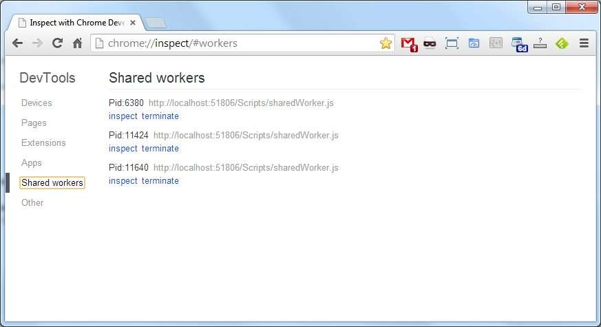 Dev Tools Inspect Shared Workers