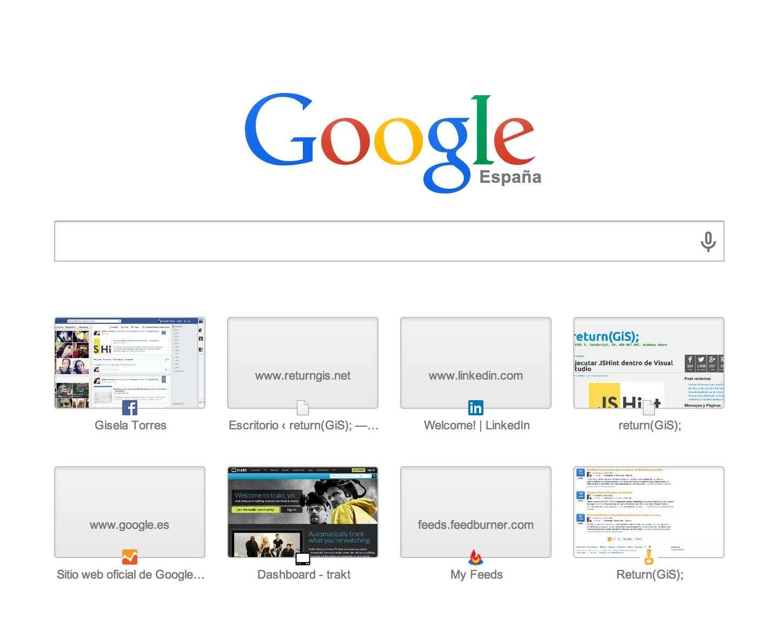 New tab Chrome