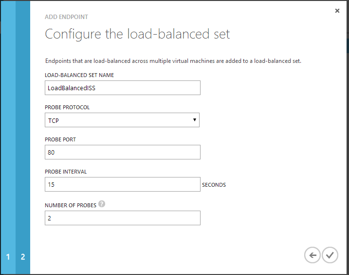 Configure Load Balanced set