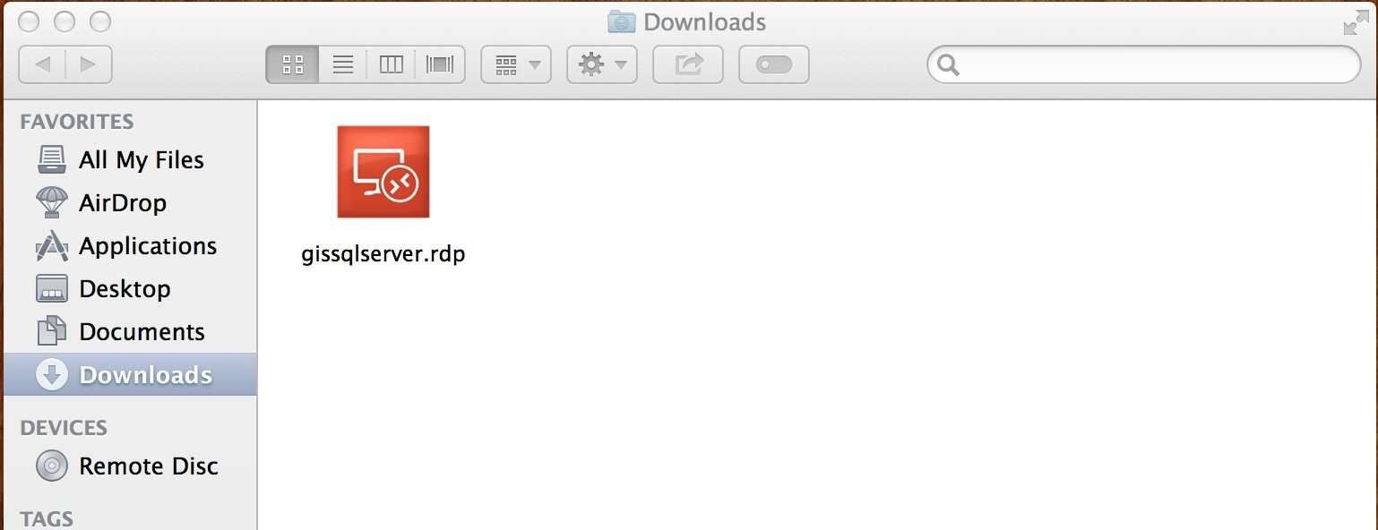 Microsoft Remote Desktop rdp