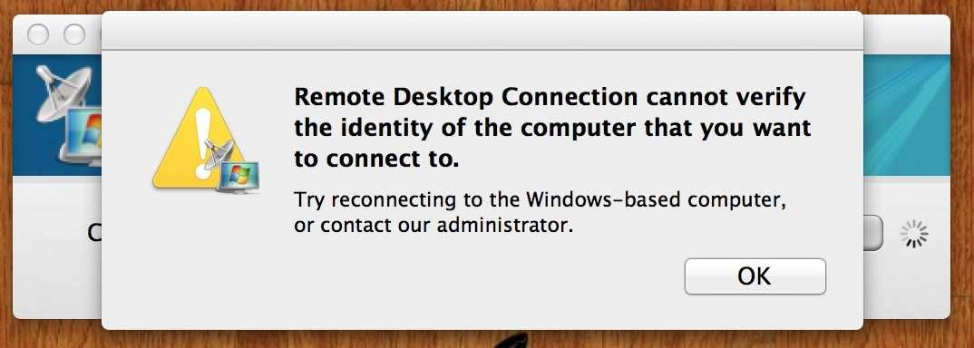 Remote desktop connection for Mac