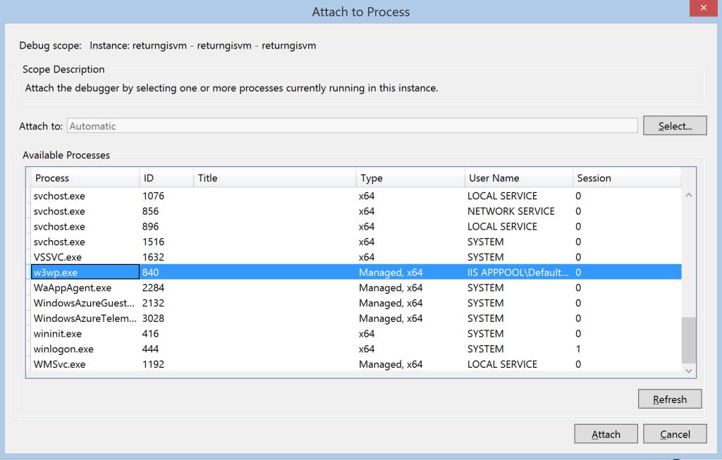 IaaS-VM-Attach-to-process