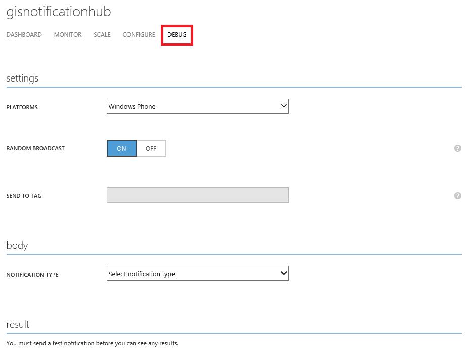Notification Hub Debug