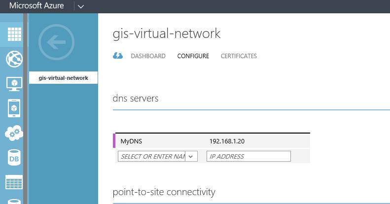 VNET configure DNS Server