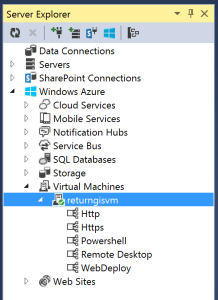 Virtual Machines Server Explorer