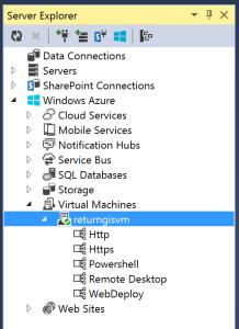 Virtual Machines Server Explorer
