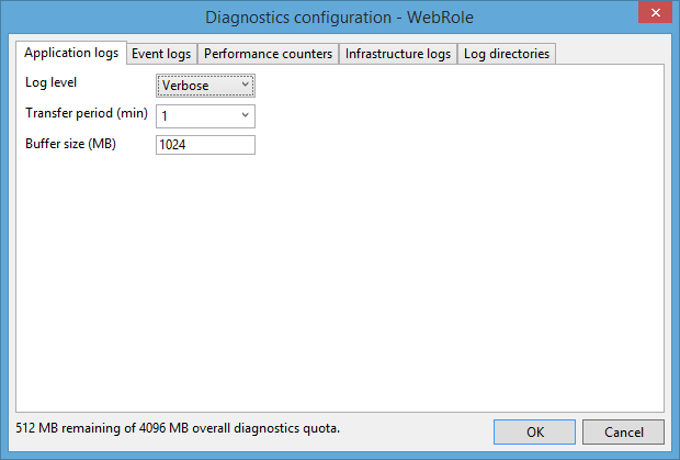 Diagnostics Configuration Web Role