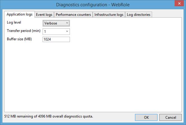 Diagnostics Configuration Web Role