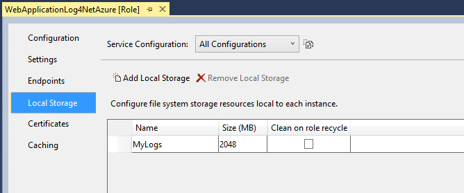 Local Storage MyLogs