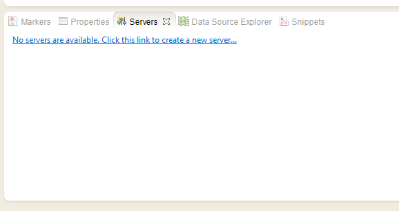 Servers tab new Server