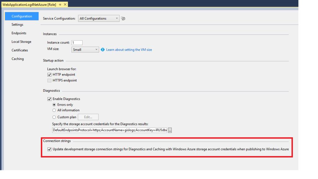 Update development storage when publishing