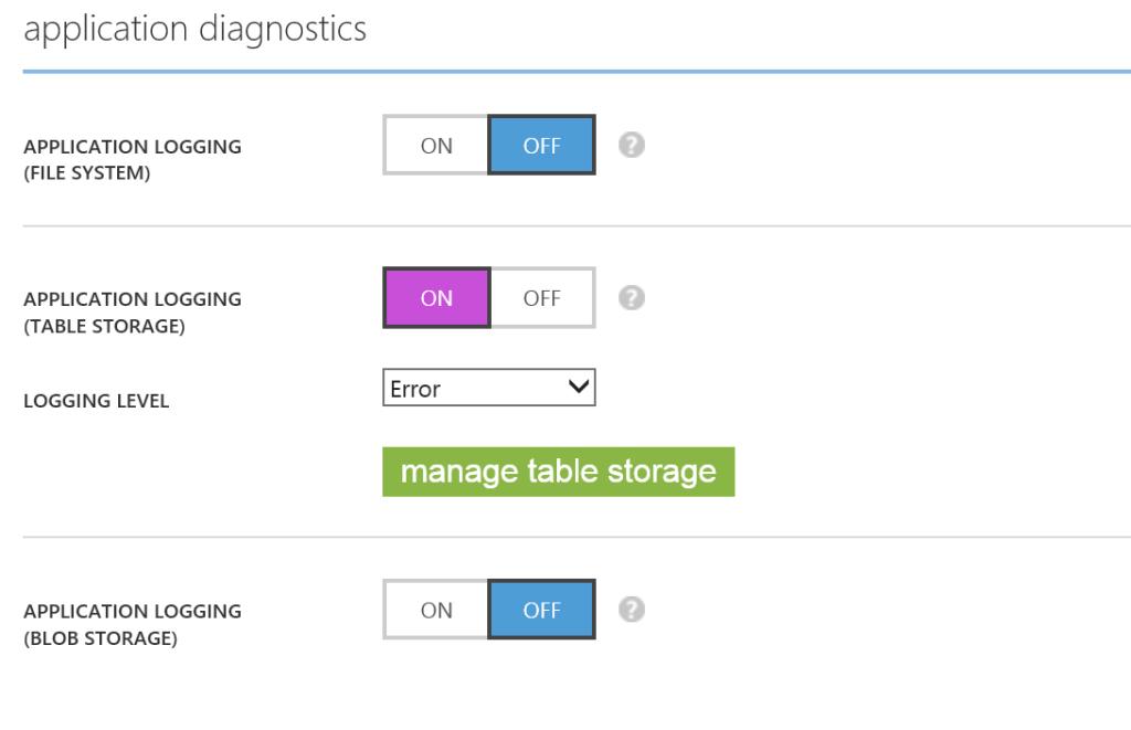 application diagnostics