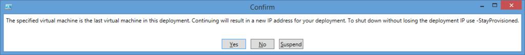 Confirm Stop-AzureVM