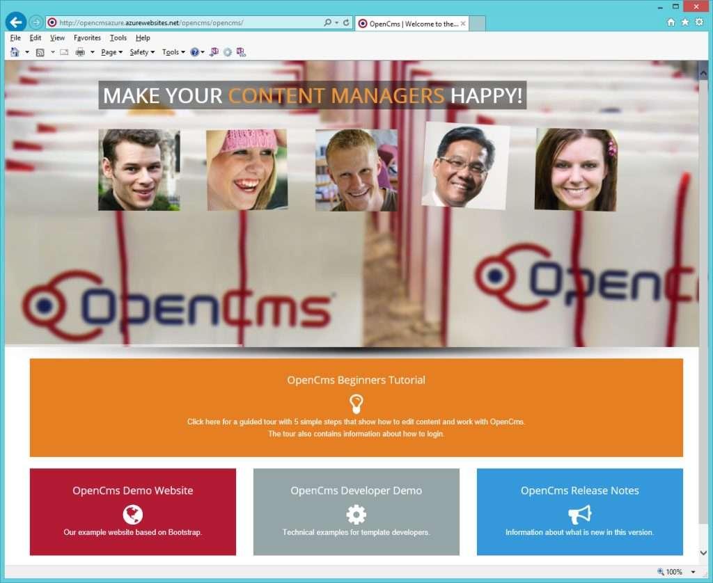 OpenCMS on Azure