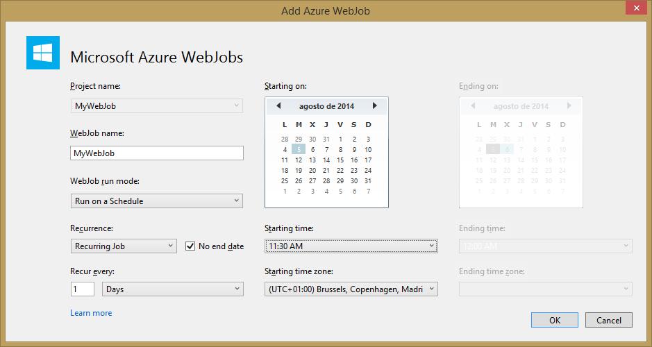 Add Azure WebJob