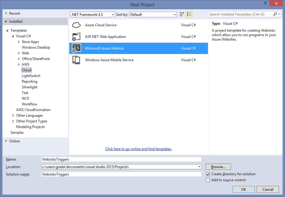 Microsoft Azure WebJob