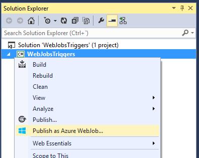 Publis as Azure WebJob