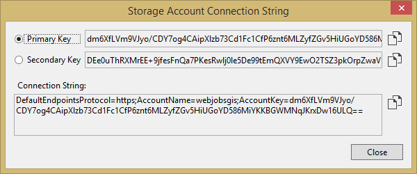 Storage Account Connection String