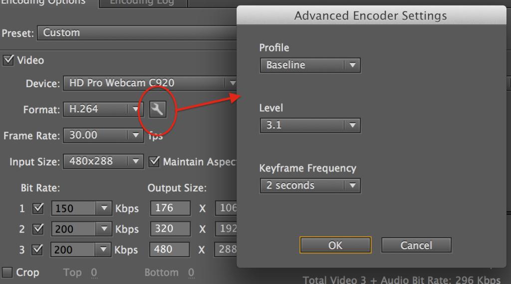 Advanced Encoder Settings