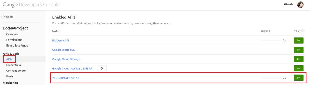 Google Developers Apis