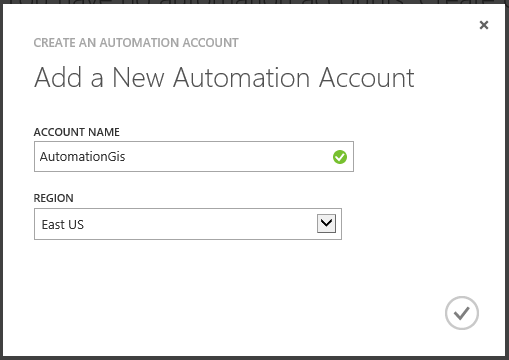 Add a New Automation Account