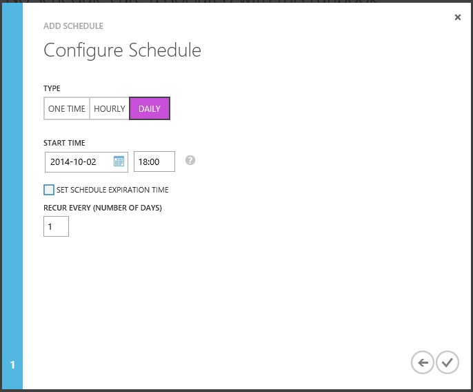 Automation Configure Schedule Daily