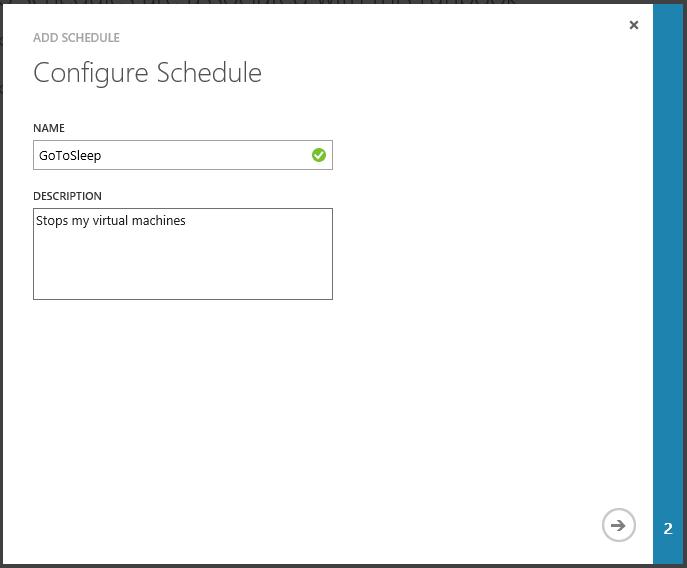 Automation Configure Schedule