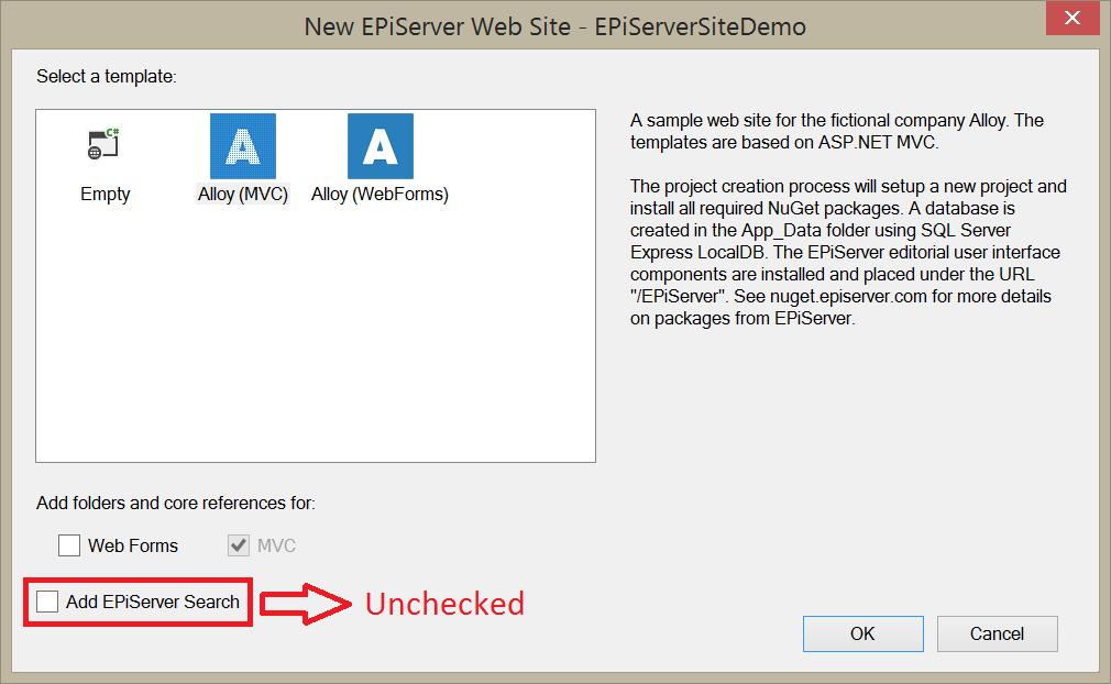 EPiServer Alloy MVC template