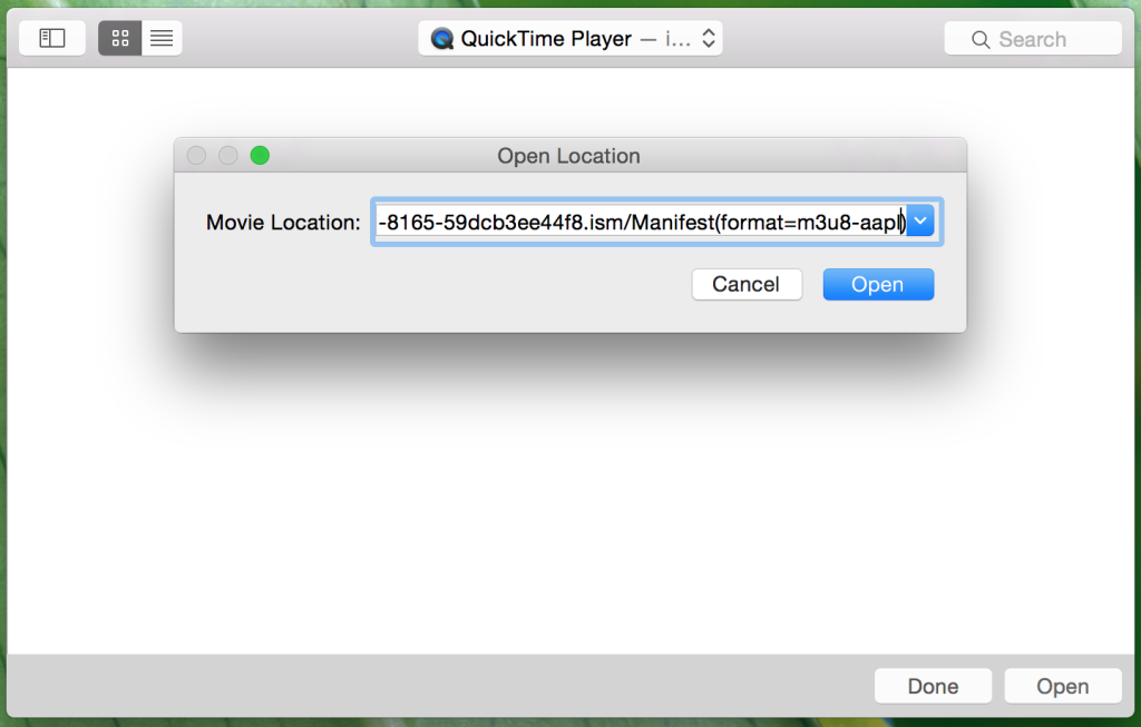 Quicktime player HLS