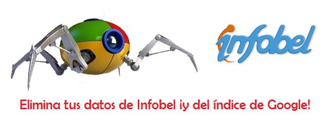 Elimina tus datos de Infobel y del índice de Google