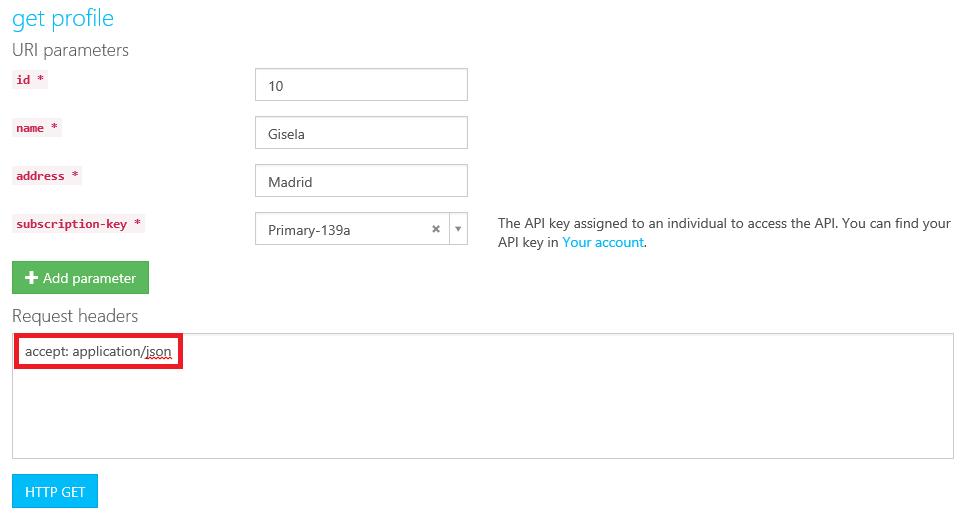 Api get profile accept json example