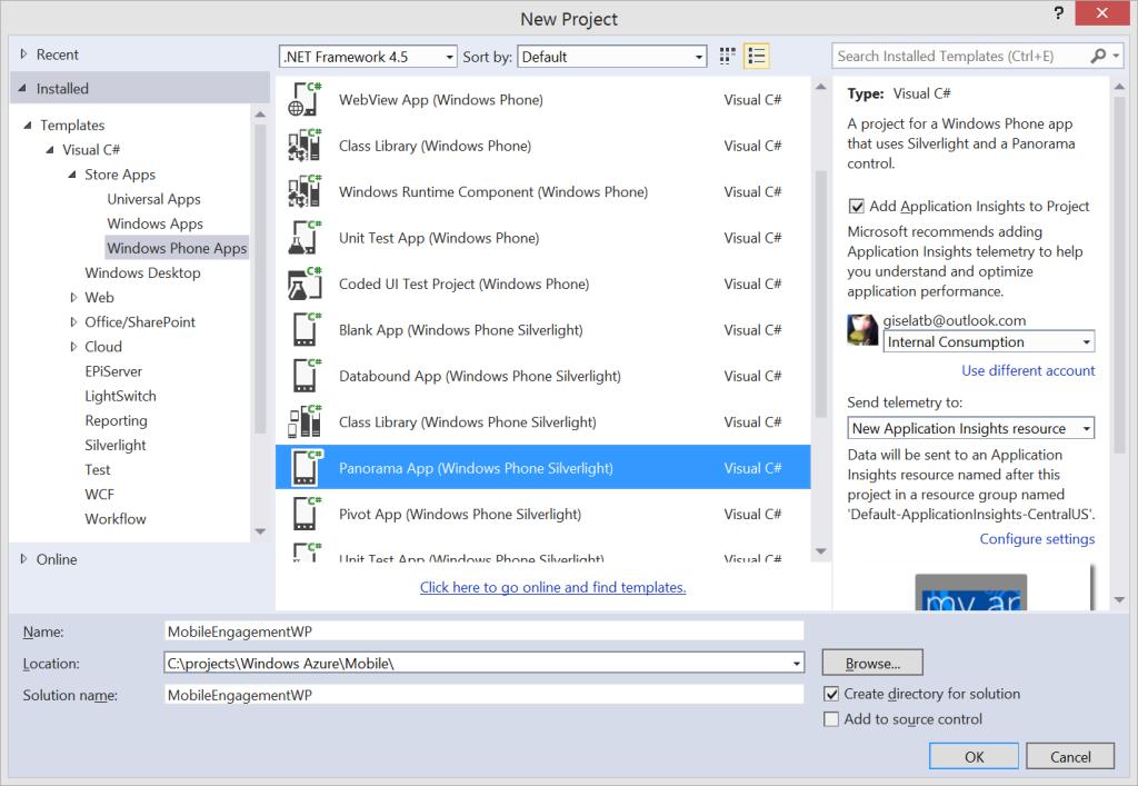 Mobile Engagement - Panorama App Windows Phone SL