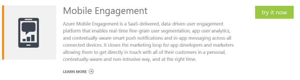 Mobile Engagement try now