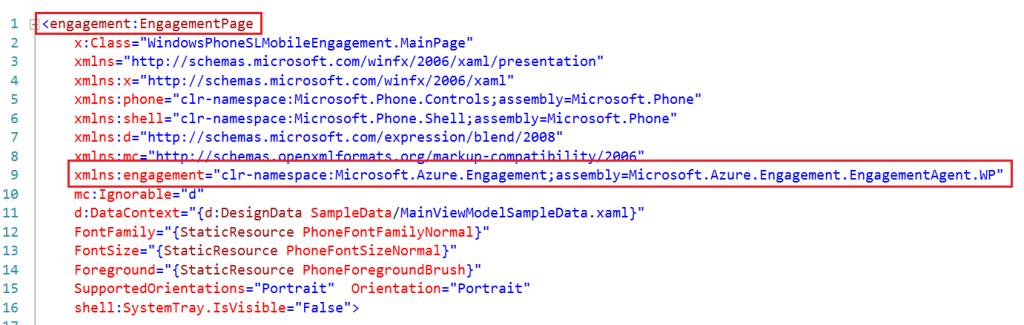 Modify MainPage.xaml file