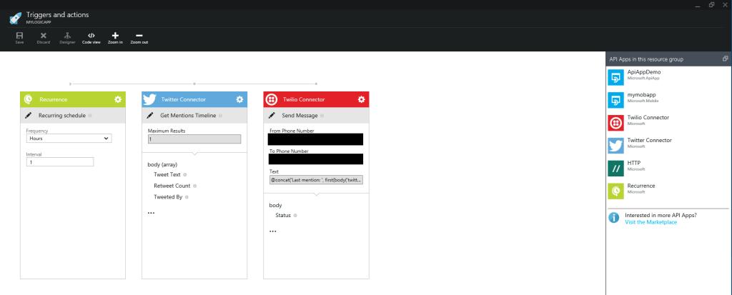 App service - Logic app - Workflow designer