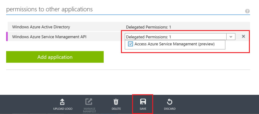 Azure Active Directory - Delegated permissions