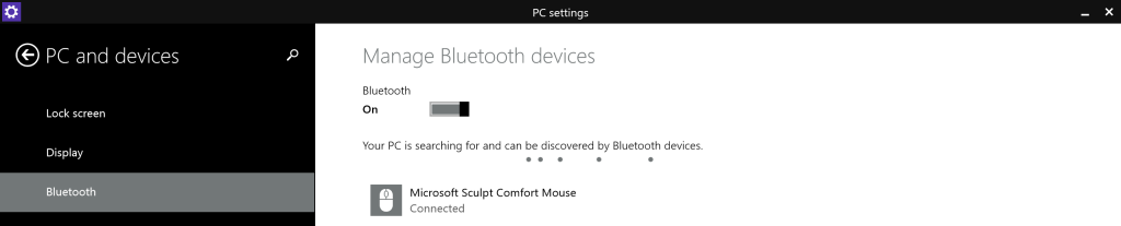 PC and devices - Bluetooth