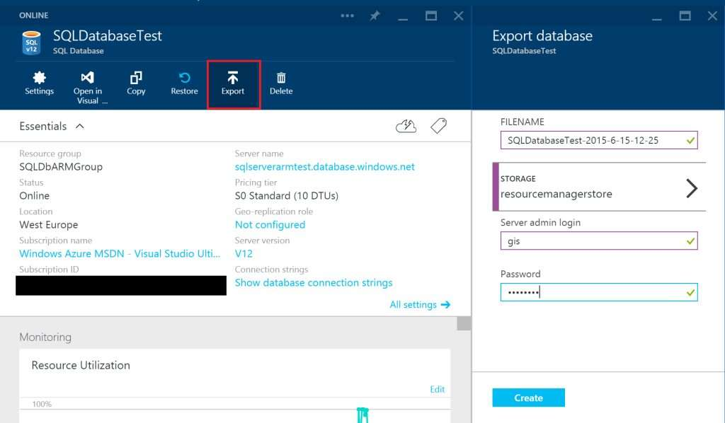 SQLDatabaseTest - Export