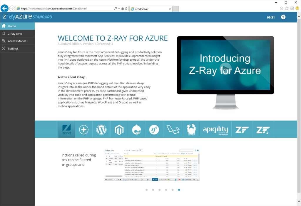 Z-Ray on Azure - Zend Server