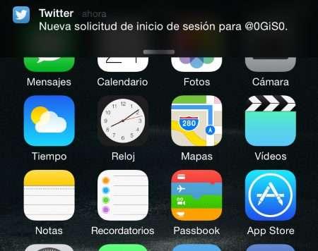 Twitter - Nueva solicitud de sesion