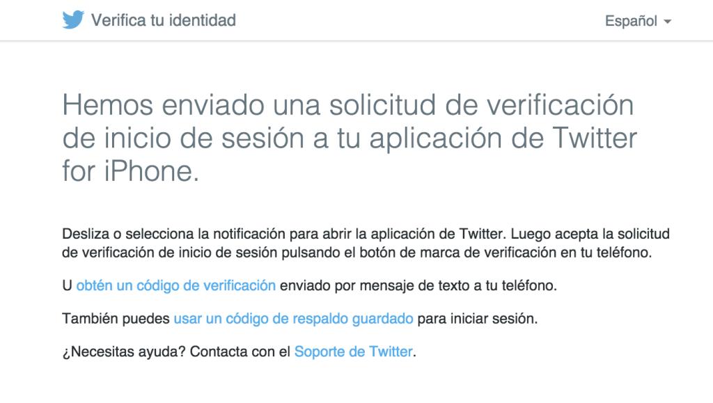 Twitter - Verifica tu identidad